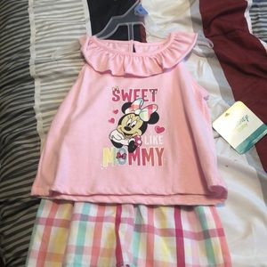 Little girl Minnie Mouse outfit